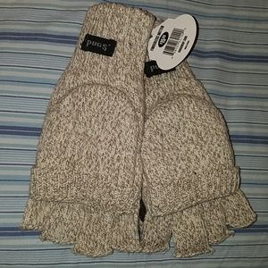 Pugs fingerless mittens